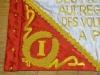 Etendard, drapeau, gidon, broderie, mains,