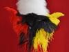 Colback_et_plumet_de_tambour_major_sergent_et_caporal_sapeur_couleurs_tricolores_belge.